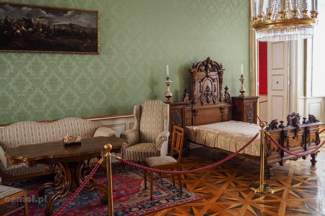 Salon Zielony - to tu odpoczywali najbardziej znamienici goście arcybiskupów Ołomuńca