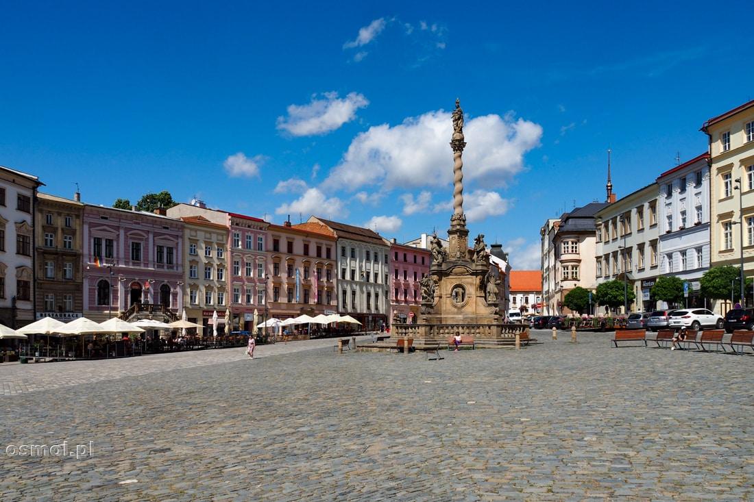 Dolny Rynek w Ołomuńcu a na nim Kolumna Maryjna