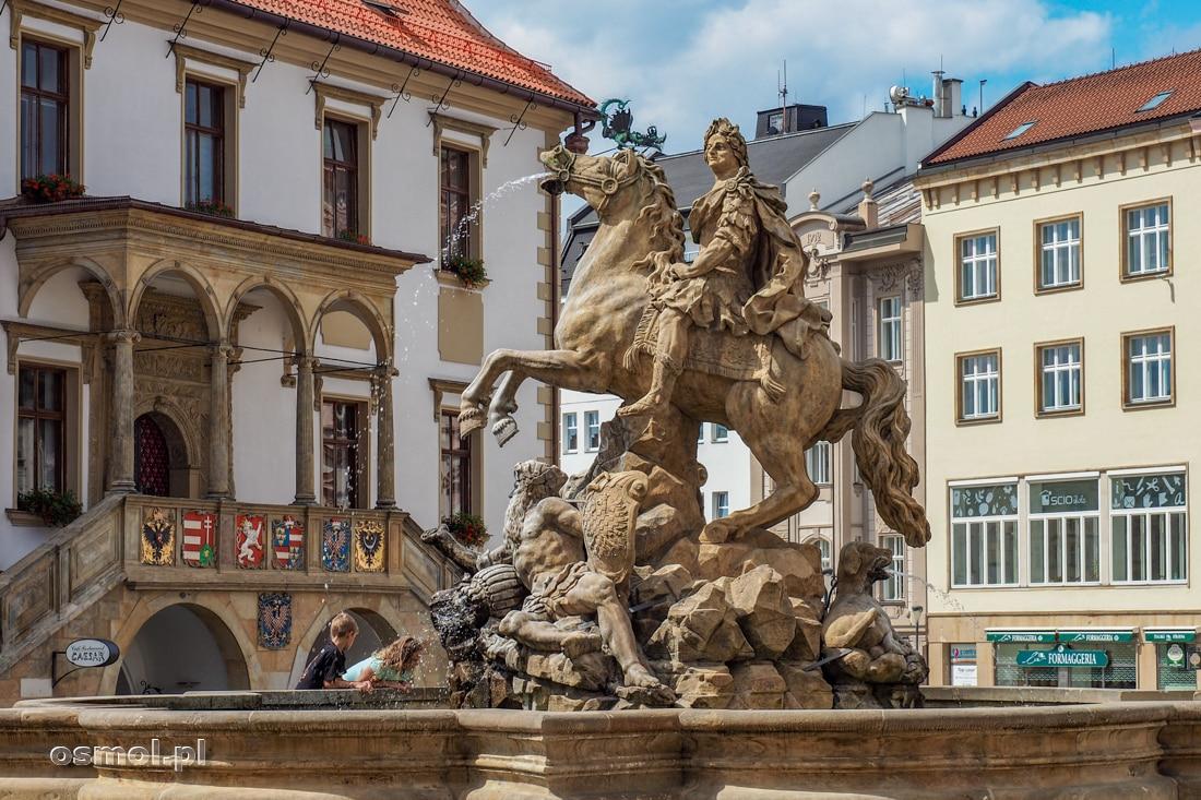 Fontanna Cezara. Największa fontanna w Ołomuńcu