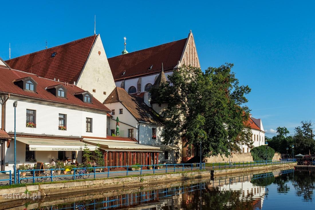 Klasztor dominikanów i restauracje nad wodą