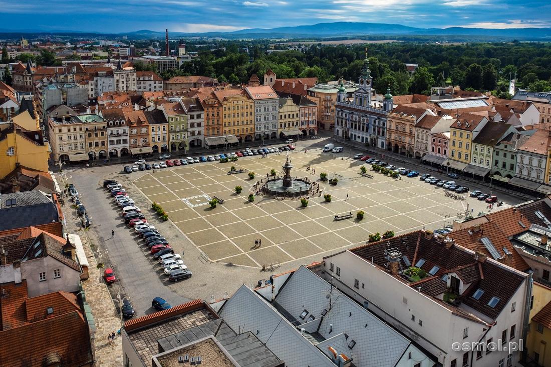 Widok na rynek z Czarnej Wieży w Czeskich Budziejowicach