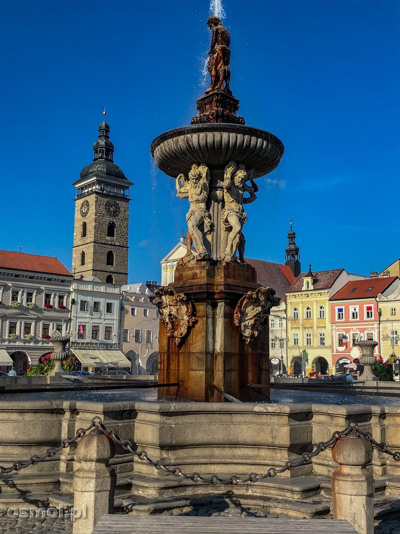 Fontanna Samsona na rynku w Czeskich Budziejowicach